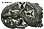 Gaelon Dragon Belt Buckle + display stand. Code DM2